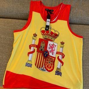 🇪🇸 SPAIN tank top Hudson 2XL Reino de Espana